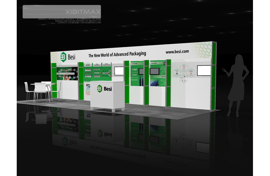 BESI 10×30 Trade Show Booth Rental