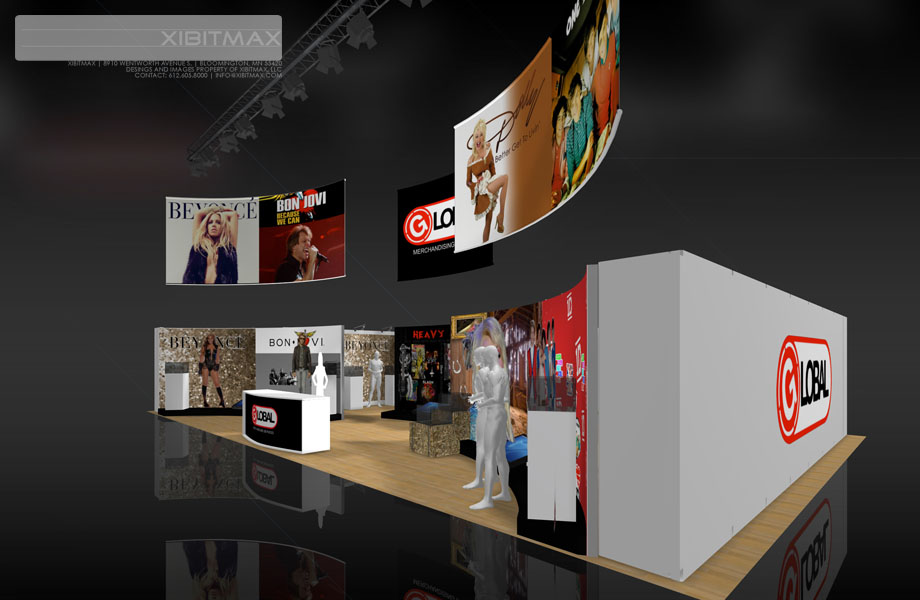 Global Merchandising 30×50 Trade Show Exhibit