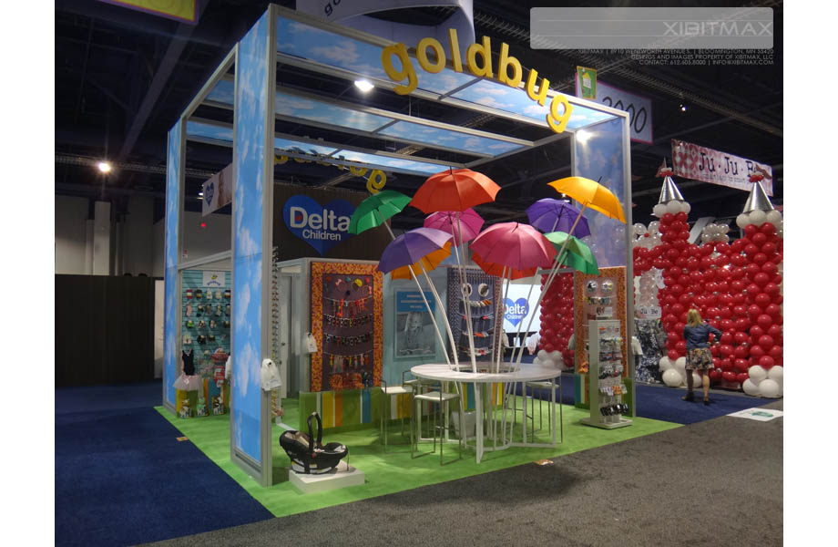 Goldbug – 20×20 Trade Show Booth Rental