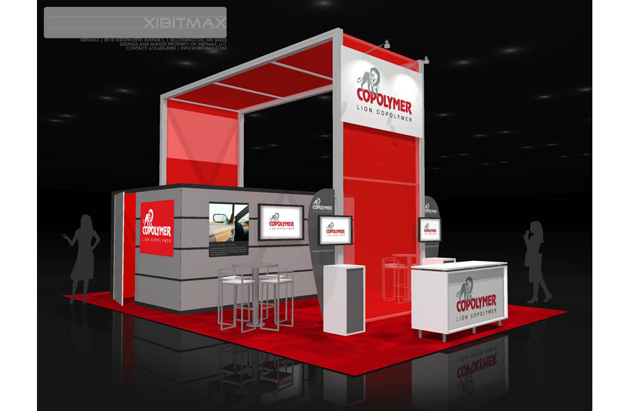 LionCo Polymer 20x30 Trade Show Booth Rental