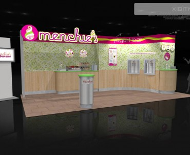 Menchie's 10×20 Custom Trade Show Exhibit