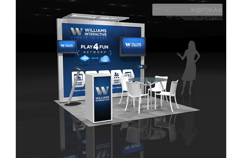 Williams Interactive 10×10 Trade Show Booth   Rental