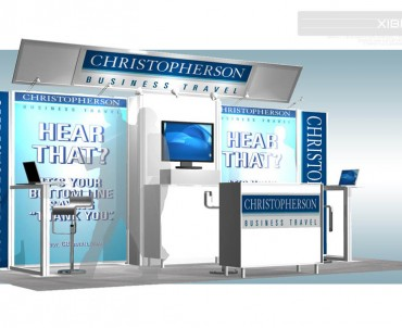 Christopherson Business Travel – 10×20 Trade Show Exhibit Rental