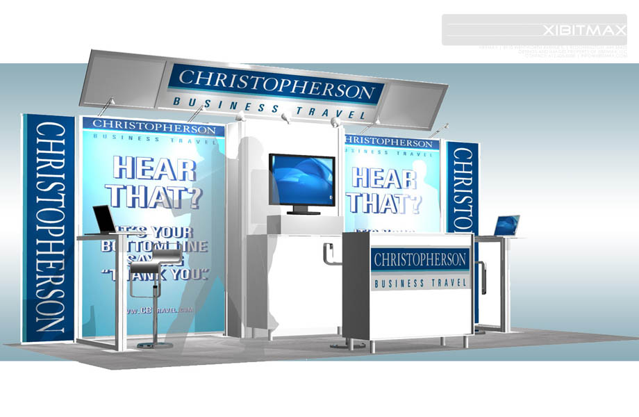 Christopherson Business Travel - 10x20 Trade Show Exhibit Rental