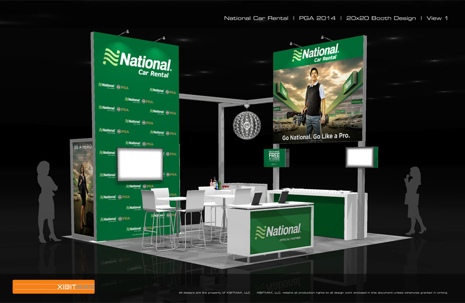 National Car Rental - 20x20 Trade Show Display Rental