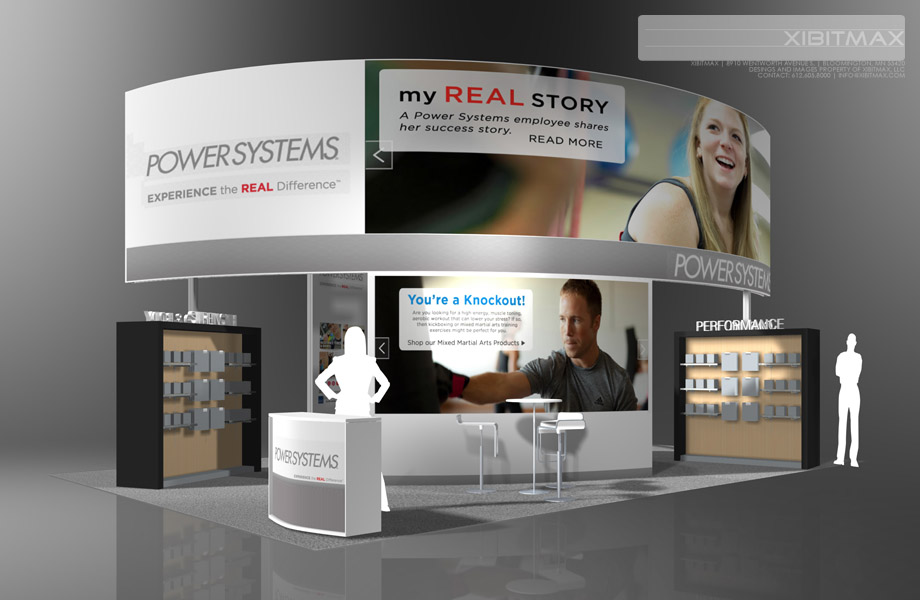 PowerSystems – 20×30 Trade Show Exhibit Rental