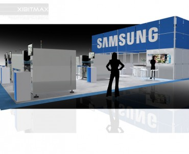 Samsung 40×50 Trade Show Booth Rental