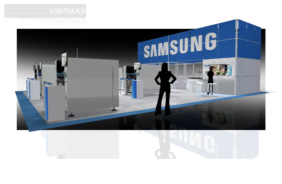 Samsung 40x50 Trade Show Booth Rental