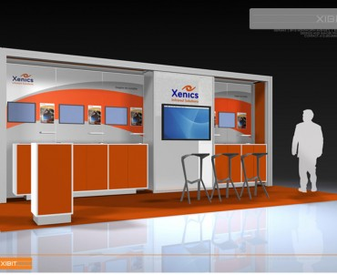 XENICS – 10×20 Trade Show Display Rental