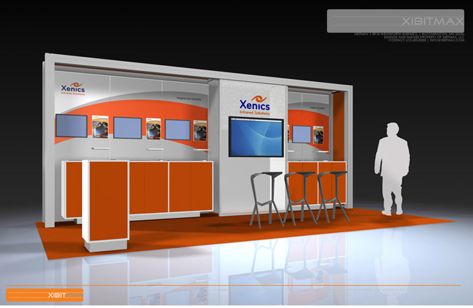 XENICS - 10x20 Trade Show Display Rental