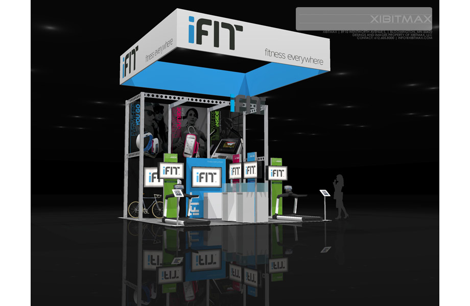 iFit - 20x20 Trade Show Exhibit Rental