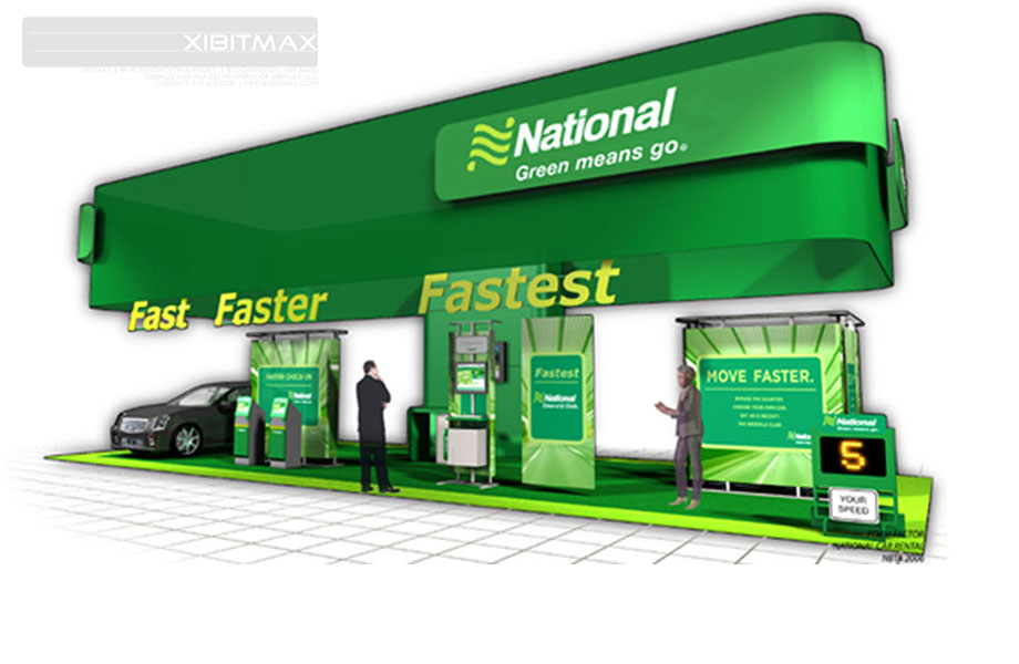 National Car - 20x50 Custom Trade Show Display