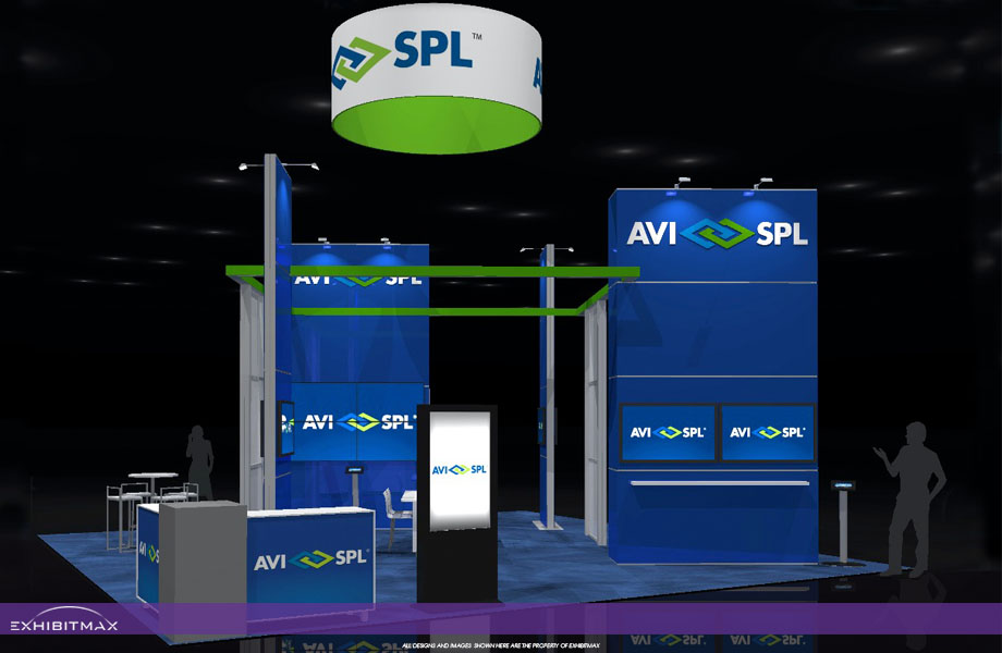 AVI-SPL – 30×30 Custom Trade Show Display Rental