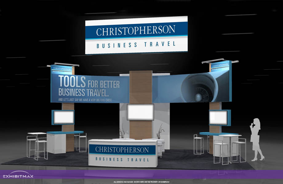 Christopherson Business Travel – 20×30 Trade Show Booth Rental