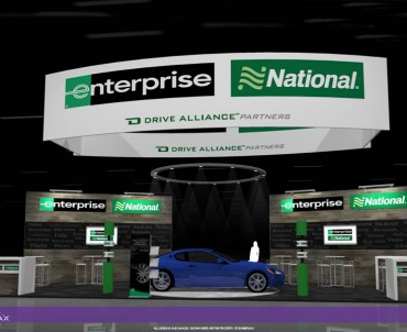 ENTERPRISE – 30×50 Custom Trade Show Exhibit Rental