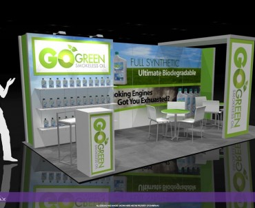 GO GREEN – 10×20 Trade Show Booth Rental