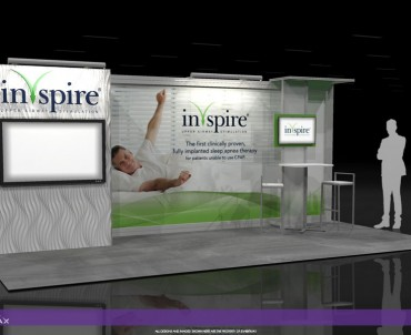 Inspire – 10×20 Trade Show Display Rental