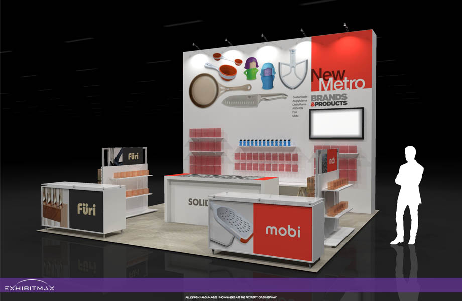 New Metro – 20×20 Trade Show Display Rental