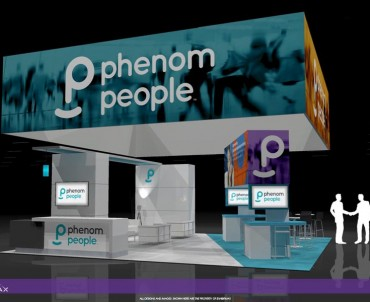 PHENOMPEOPLE – 30×30 Custom Trade Show Exhibit Rental