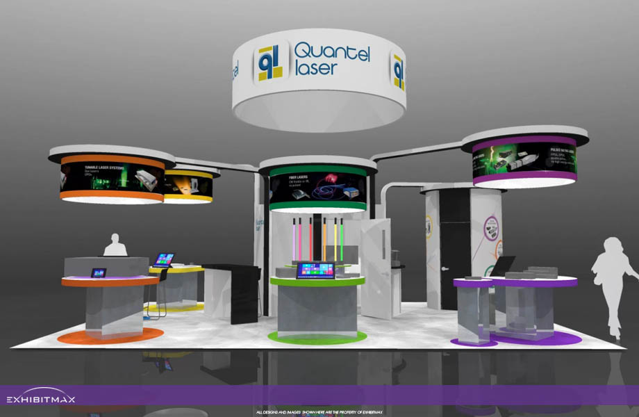 QUANTEL – 20×30 Custom Trade Show Booth Rental