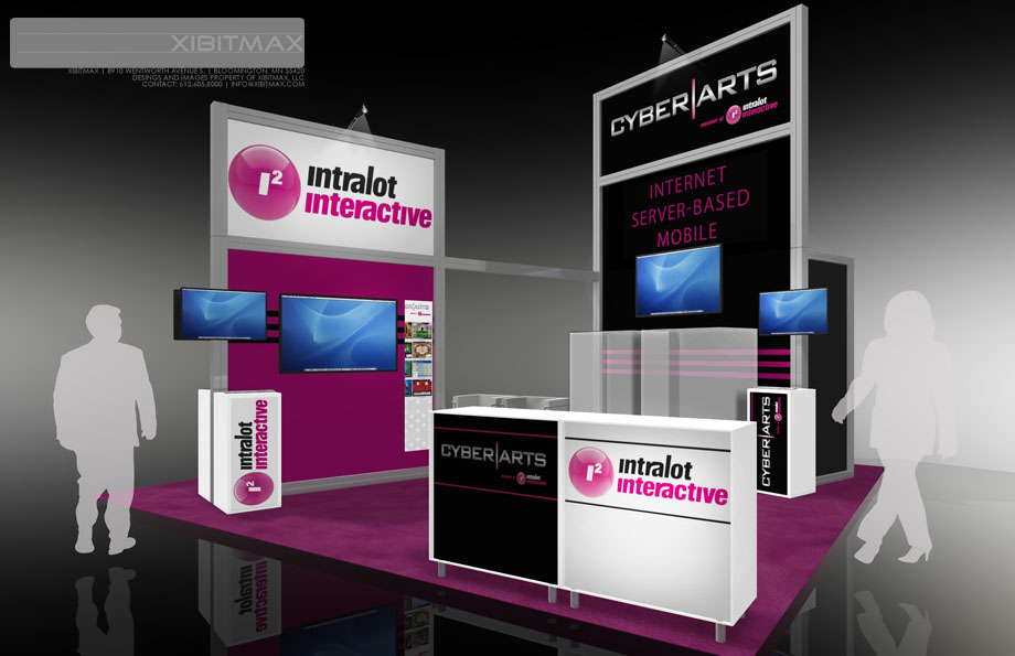 Cyberarts 20×20 Trade Show Exhibit Rental