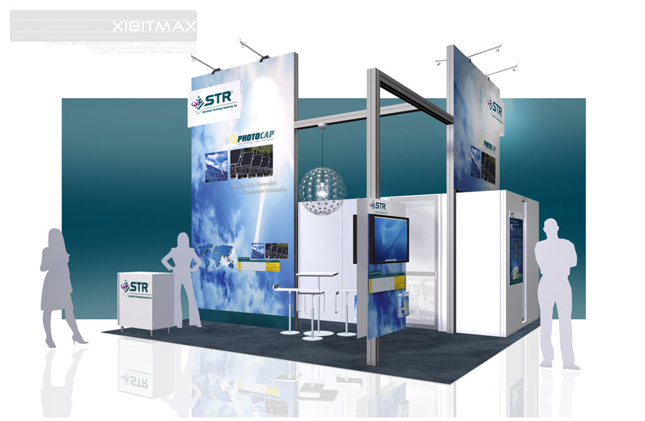 STR, Inc. – 20×20 Trade Show Booth Rental